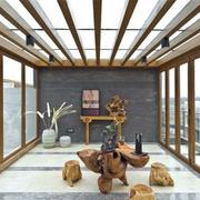 木色调阳台设计图片