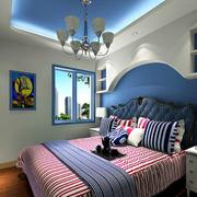 卧室蓝色吊顶展示