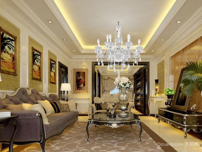 两室一厅法式客厅装修效果图