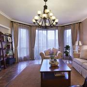 客厅落地窗帘设计