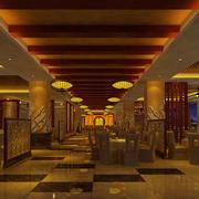 酒店宴会厅实木走廊吊顶