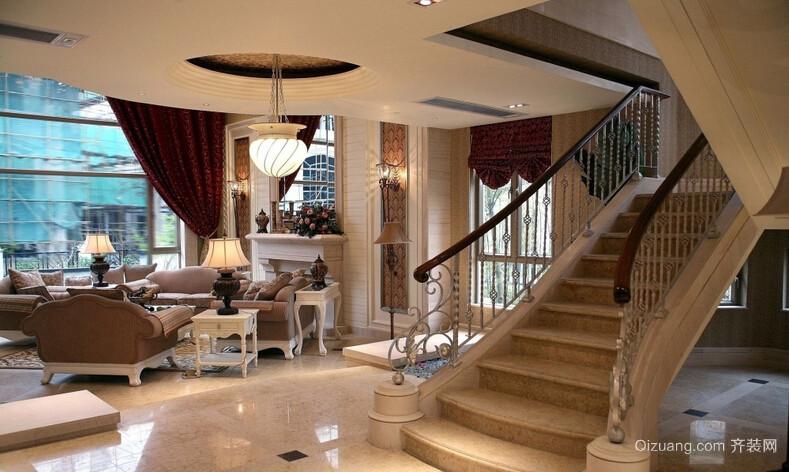 380平高档别墅楼梯装修效果图
