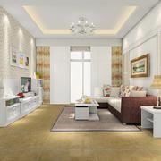 清新明亮大户型客厅