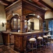 复古典雅厨房吧台