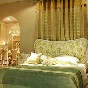 清爽系列卧室窗帘设计