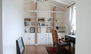 70平一居小户型书房书架装修效果图