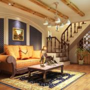 客厅木地板装修图片