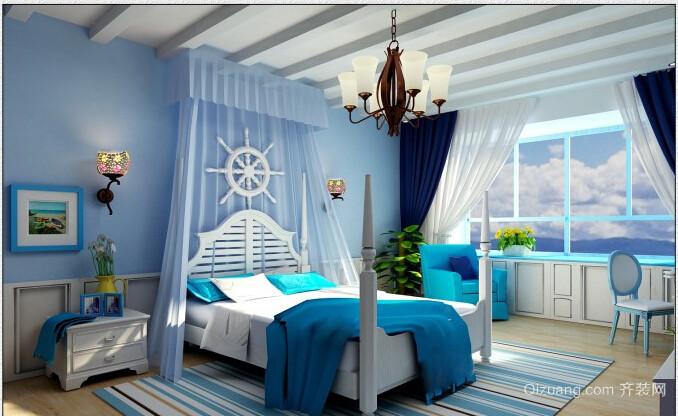 海洋般纯净地中海风格小卧室装修效果图