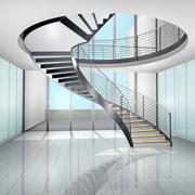 纯白色调楼梯图