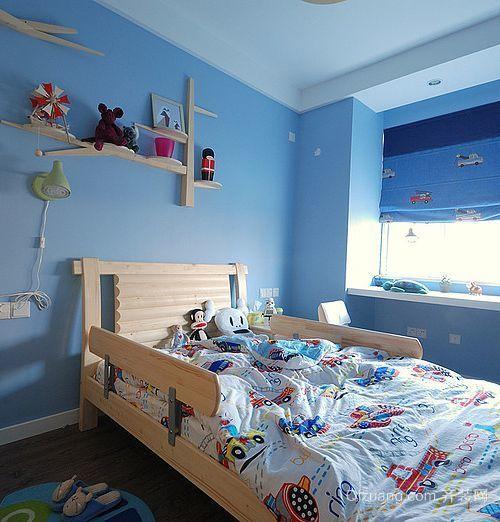 70平米田园风格儿童卧室背景墙装修效果图