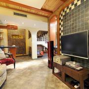别墅客厅地板砖图片