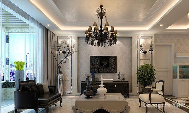 两室一厅现代简欧风格客厅装修效果图