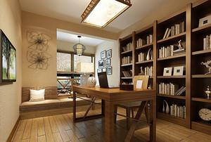 136平米雅致中式风格书房设计装修效果图