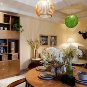餐厅实木置物柜展示