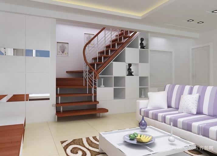 跃层式别墅楼梯装修效果图大全