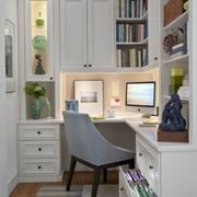 欧式小户型书房整体书柜装饰
