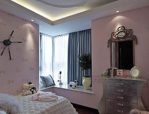 100㎡清新雅致欧式风格儿童房设计装修效果图