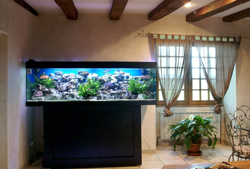三室二厅大户型欧式客厅鱼缸背景墙装修效果图