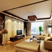 精致型三室二厅客厅