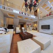 跃层式简欧风格客厅