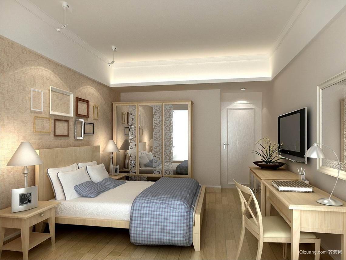90平米北欧风格卧室背景墙装修效果图