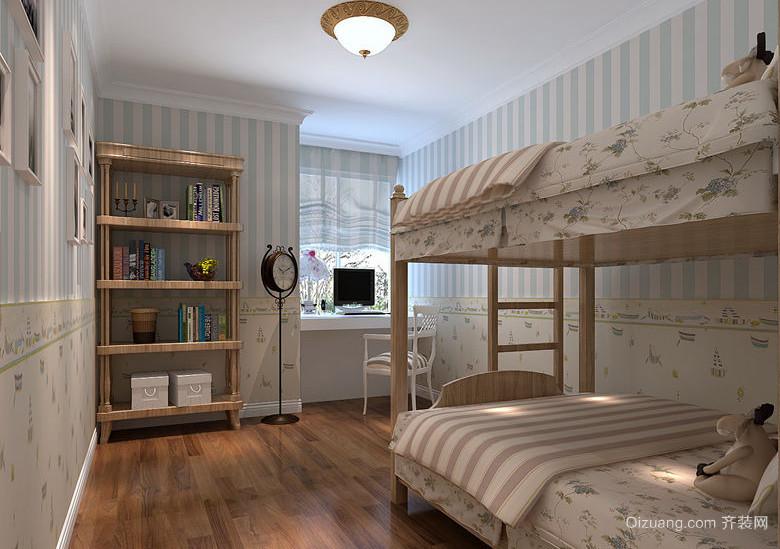 100平米绿色田园风格儿童房设计装修效果图