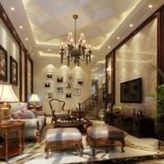 欧式风格简约客厅大理石背景墙装饰