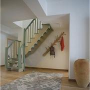 中式阁楼楼梯白色简约款