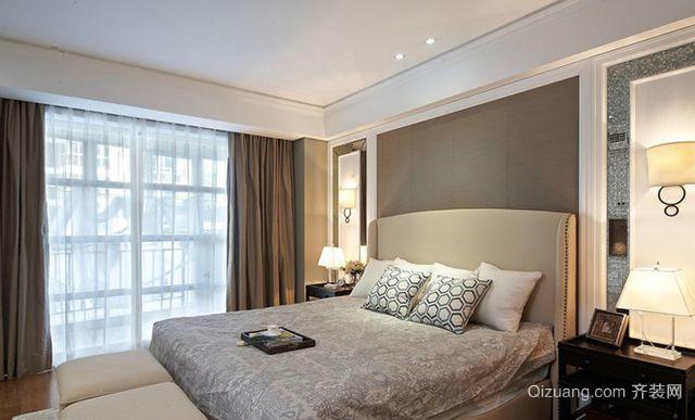现代美式风格卧室装修效果图