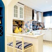 地中海简约风格厨房吧台装饰