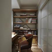 简单实木型小书房