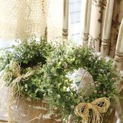 韩式清新风格花店窗户装饰