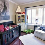 美式简约风格儿童房原木地板装饰