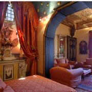 巴洛克卧室拱形门装饰