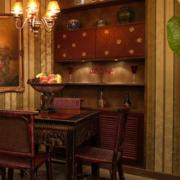 美式风格深色系原木酒柜装饰