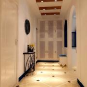 美式简约风格小型进门玄关装饰