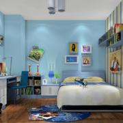 现代简约风格儿童房床头照片墙装饰