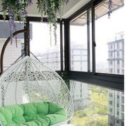 日式阳台清新风格吊椅装饰