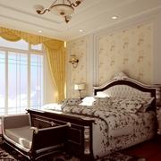 欧式简约风格卧室床头背景墙装饰