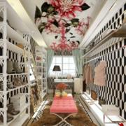 韩式清新风格大型鞋柜设计