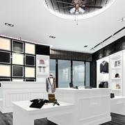 后现代风格服装店置物架装饰