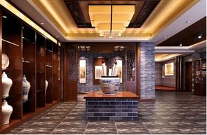 现代室内陶瓷展厅装修效果图