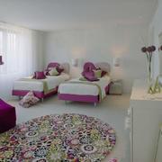 儿童房简约风格双人床装饰