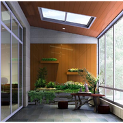 日式阳台大型玻璃窗装饰
