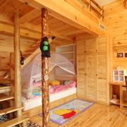 美式原木浅色儿童房设计