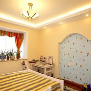 韩式清新简约风格儿童房背景墙装饰