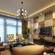 瓷砖个性电视墙