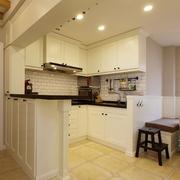 欧式简约风格白色系厨房装饰