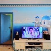 地中海客厅电视墙欧式家常款