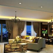 后现代风格奢华客厅吊顶装饰